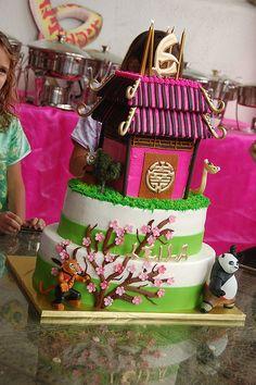 wonderfull to see Kung Fu Panda Cake, Panda Cakes, Panda Birthday Party, Panda Party, Edible Creations, Cake Creations, Panda Food, Sushi Cake, Asian Cake