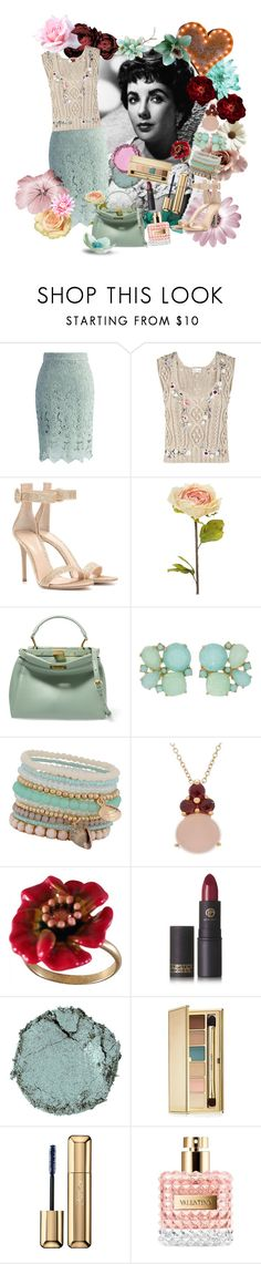 """""""Cotton Candy & Mint"""" by jeanice09 ❤ liked on Polyvore featuring Chicwish, RED Valentino, Gianvito Rossi, Shabby Chic, Fendi, Kate Spade, ALDO, Pomellato, Les Néréides and Lipstick Queen"""