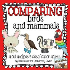 Comparing Birds and Mammals: An elementary cut and sort activity
