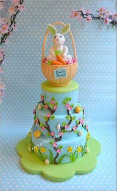 Springy Easter Cake, love it! By Fantasticake Cecile Crabot