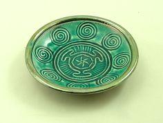 Hecate  Spiral Offering Bowl Handmade Raku Pottery by DeBaunFineCeramics on Etsy