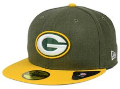 Green Bay Packers NFL Heather Action 2 Tone 59FIFTY Cap Hats. NEW ERA ... 24ca2c389