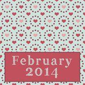 Paper-Pegasus_Feb -GORGEOUS free printable calendars! This is sooo pretty, by The Paper Pegasus!