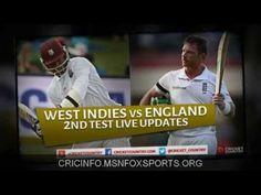 cricket live info: 2nd test - west indies v/s england St George's
