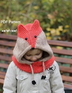 Sly Fox Cowl Knitting Pattern Sizes: Baby through by KatyTricot