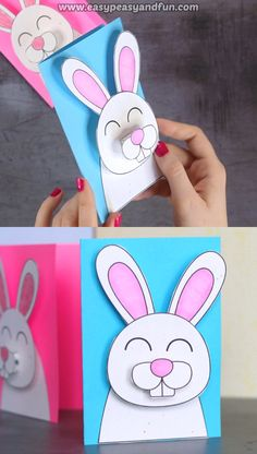 Easter Bunny Card Idea for KidsWe love greeting cards that stand out and this Easter Bunny Card really pops!Easter Bunny Card Idea for Kids We love greeting cards that stand out and this Easter Bunny Card really pops! Easy Easter Crafts, Bunny Crafts, Paper Crafts For Kids, Diy Crafts, Decor Crafts, Rabbit Crafts, Quick Crafts, Card Crafts, Creative Crafts