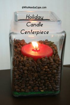 Holiday Candle - quick and easy DIY!