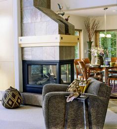 Two-Sided Fireplaces