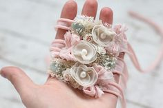 Gorgeous accessory for a little ladys first photo shoot ~~~~~~~~~~~~~~~~~~~~~ ♥ ~~~~~~~~~~~~~~~~~~~~~~~~ this headband is very delicate and it is not meant for daily use! Please allow some variation in received product due to the handmade nature of it Caution: Please be aware that all