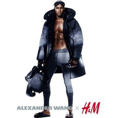 Alexander Wang's capsule collection for H&M. The collection doesn't land in stores until November photo by Mikael Jansson-lensed ad campaign. For the shoot, Wang includes star players like Joan Smalls, Raquel Zimmermann, Isabeli Fontana, and Natasha Poly. Alexander Wang, Sport Fashion, Fashion News, Mens Fashion, 2010s Fashion, Fashion Shirts, Fashion 2014, Fitness Fashion, H&m 2014