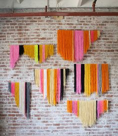 DIY wall decorations (I like the engineered prints in the last example)