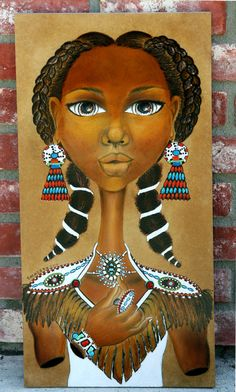 Black Art Painting Black Eagle: Native American Art via Etsy