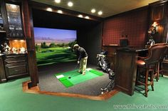 Rink Home Long Lake Minnesota - In Fotos: Rennbahn Bowlingbahn und Sk ., Hockey Rink Home Long Lake Minnesota - In Fotos: Rennbahn Bowlingbahn und Sk . Home Golf Simulator, Indoor Golf Simulator, Golf Man Cave, Golf Room, Ranger, Golf Simulators, Minnesota Home, Fantasy House, Park Homes