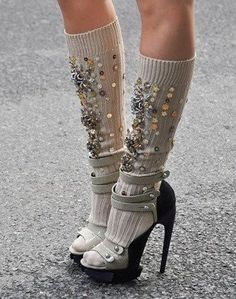 Embellished socks - get out your beads and sequins!