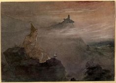 Asoka, who by the white stucco of his fame made spotless the universe - Abanindranath Tagore