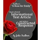 """CCSS require more use of informational texts and writing in the literature classroom. This assignment does just that for the Gothic story """"A Rose f..."""