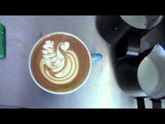Latte art - swans (bird's the word) - YouTube
