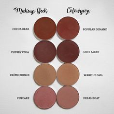 Makeup Geek Haul & Swatches & Comparison with Colourpop - flrncx - Dayre