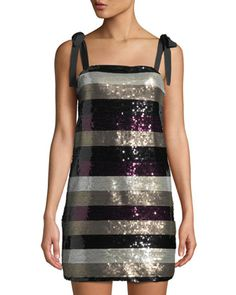 311a92b93f38 Im with Andi Striped Sequin Sheath Dress by Ali & Jay at Neiman Marcus Last  Call