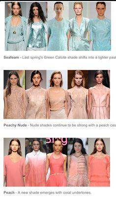 Spring 2014 Color Forecast...spring 3014 capsule wardrobe inspiraration!