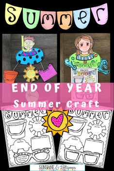Are you looking for a fun and motivating End of year Craft that will get everyone thinking about SUMMER? This engaging activity will make all your dreams come true. Just think how much fun your students will have thinking about all that fun in the sun that is just around the corner.  Grab your flip flops and take a look and don't forget your sunscreen! #summerfun #firstgradeendofyearcraftivity  #endofyearfun #secondgradecraft #thirdgradecraft