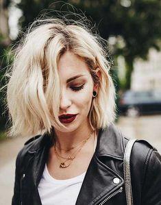Short Bleach Blonde Hair