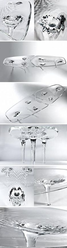 The creative table designed by Zaha Hadid