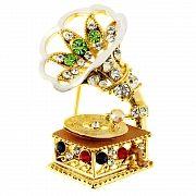 Gramophone Swarovski Crystal Pin Music Pin Brooch