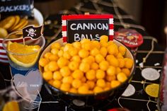 Kara's Party Ideas | Kids Birthday Party Themes: pirate birthday party---Cannon Balls