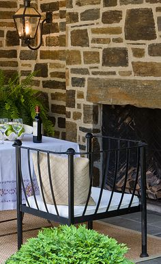 Anne Decker Architects | Spring Valley Renovation | outdoor fireplace