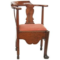 Georgian Corner / Roundabout / Smoking Chair | From a unique collection of antique and modern corner chairs at https://www.1stdibs.com/furniture/seating/corner-chairs/