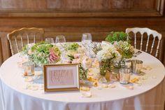 Table for newlyweds, Chateu de la Hulpe Kasia Bacq Wedding Brussels Belgium La Perla Lingerie Robe, Hugo Boss tuxedo, Cartier jewelery wedding bands Castle Classical Wedding Jimmy Choo