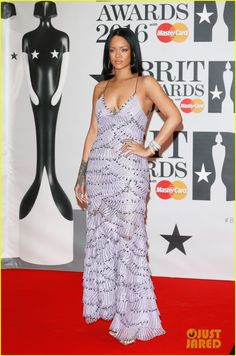 Rihanna Walks the Red Carpet at BRIT Awards 2016!: Photo #3587560. Rihanna is as chic as ever while walking the red carpet at the 2016 BRIT Awards held at the O2 Arena on Wednesday (February 24) in London, England.    The 28-year-old…