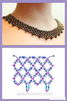 Free pattern for necklace Gold of Autumn | Beads Magic