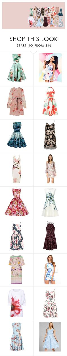 """""""collage referencia"""" by claudia-ximena-salas-flores on Polyvore featuring moda, Lipsy, Valentino, Ingie Paris, River Island, Topshop, Haute Hippie, ERIN Erin Fetherston, Sans Souci y Glamorous"""