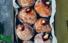 We love this blackberry jam and custard doughnuts recipe from Donal Skehan. Check it out on the site now. Beignets, Irish Recipes, Sweet Recipes, Scottish Recipes, Custard Donuts Recipe, Donut Recipes, Cooking Recipes, Jam Recipes, Vegan Recipes