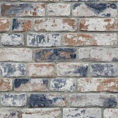 Brick Effect Wallpaper, White Brick Wallpaper, Look Wallpaper, Navy Wallpaper, Rustic Wallpaper, Kitchen Wallpaper Red, Exposed Brick Wallpaper, Faux Brick Walls, White Brick Walls