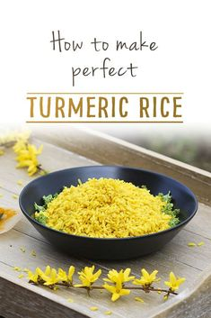 In this turmeric rice recipe we look at how to get delightful, perfectly cooked individual grains of rice that don't clump together. It serves beautiful hot, with curry or as a side dish. Tumeric Rice Recipe, Basmati Rice Recipes, Rice Salad Recipes, Turmeric Recipes, Curry Recipes, Pasta Recipes, Raw Rice Recipe, Turmeric Drink, Healthy Vegan Snacks