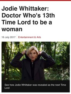 I'm excited for this. I wanna see how this is going to play out  and no one should be surprised. We all knew the doctor would be a woman eventually. Better sooner than later!