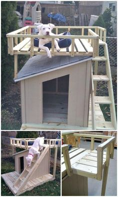 The 45 easy DIY Easy Dog House Plans & Ideas that are all fabulous and fantastic and will definitely please all the dogs! Getting a useful and featured idea of DIY dog house plans would not that easy before, once again a big thanks to DIY projects! Dog Kennel Roof, Diy Dog Kennel, Pet Kennels, Kennel Ideas, Puppy Obedience Training, Basic Dog Training, Dog Training Videos, Training Dogs, Dog House Plans