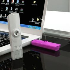 AromaUSB is a real working USB fragrance dispenser. It provides a pleasant fragrance when plugged into a computer.