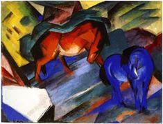 Rotes und blaues Pferd by Gerhard Richter