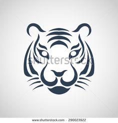 tiger logo vector - stock vector