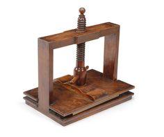 A 19th century oak and alder book press