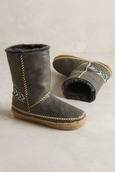 Laidback London Naira Shearling-Lined Booties Grey Boots  #anthrofave #anthropologie