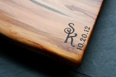 Cutting Board Personalized Engravings- Monogram - Unique Wedding Gifts - Wood…