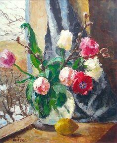 Erik Mogens Vantore -   Still Life with Tulips  20th century