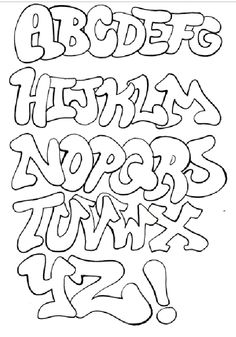Sample Graffiti Alphabet