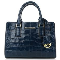 MICHAEL KORS Dillon Large Embossed-Leather Tote Deep Blue