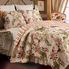 Butterflies 3-piece King-size Quilt Set | Overstock™ Shopping - Great Deals on Quilts